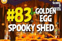 "Angry Birds Seasons Hammier Things ""Spooky Shed"" Golden Egg #83 Walkthrough"