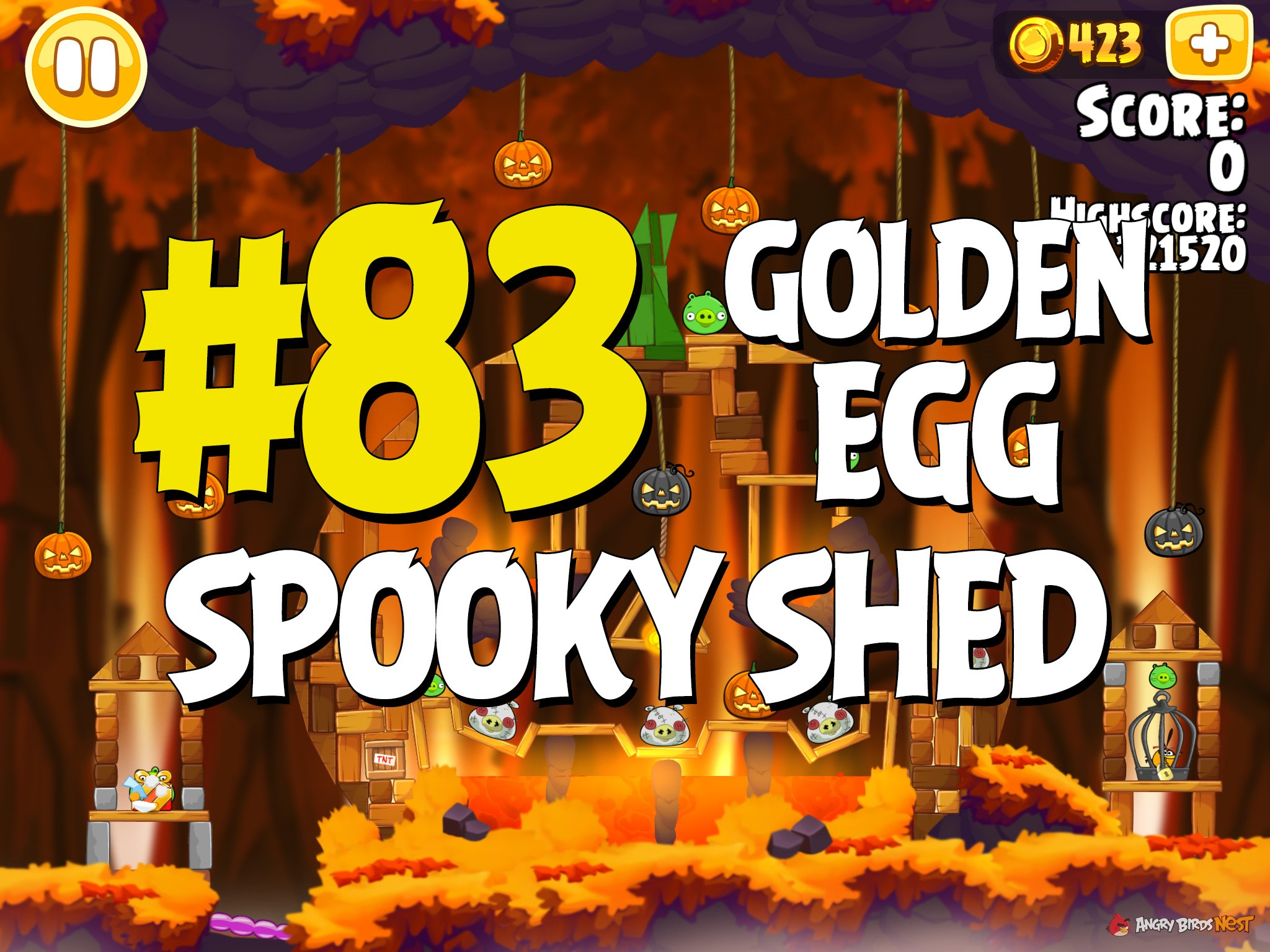 """Angry Birds Hammier Things angry birds seasons hammier things """"spooky shed"""" golden egg"""