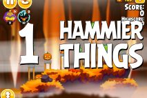 Angry Birds Seasons Hammier Things Level 1-1 Walkthrough