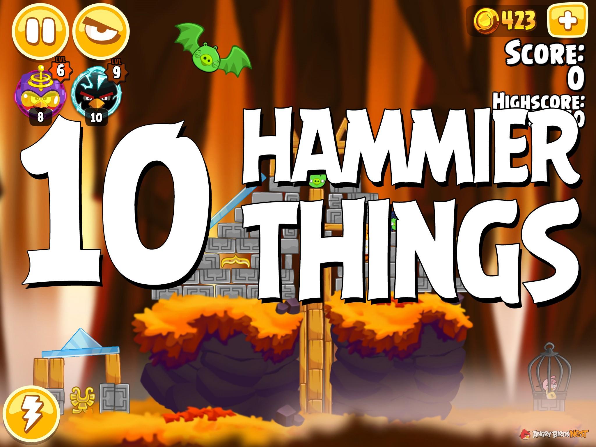 Angry Birds Hammier Things angry birds seasons hammier things level 1-10 walkthrough
