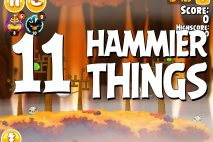 Angry Birds Seasons Hammier Things Level 1-11 Walkthrough