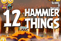 Angry Birds Seasons Hammier Things Level 1-12 Walkthrough