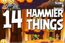 Angry Birds Seasons Hammier Things Level 1-14 Walkthrough