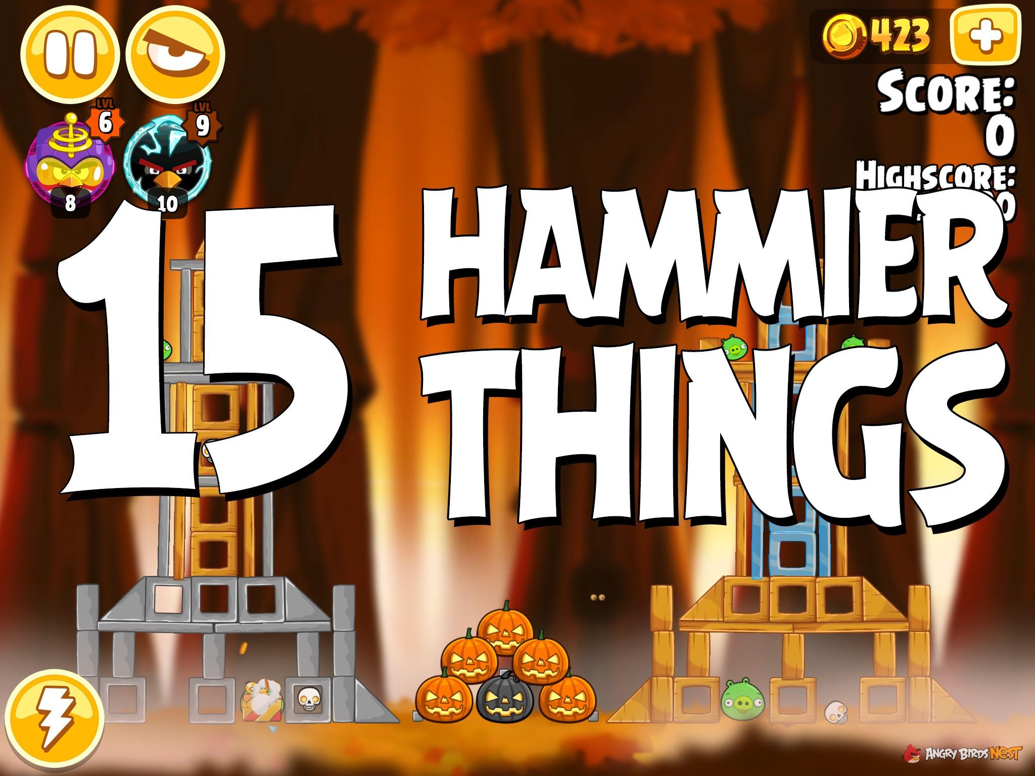Angry Birds Hammier Things angry birds seasons hammier things level 1-15 walkthrough