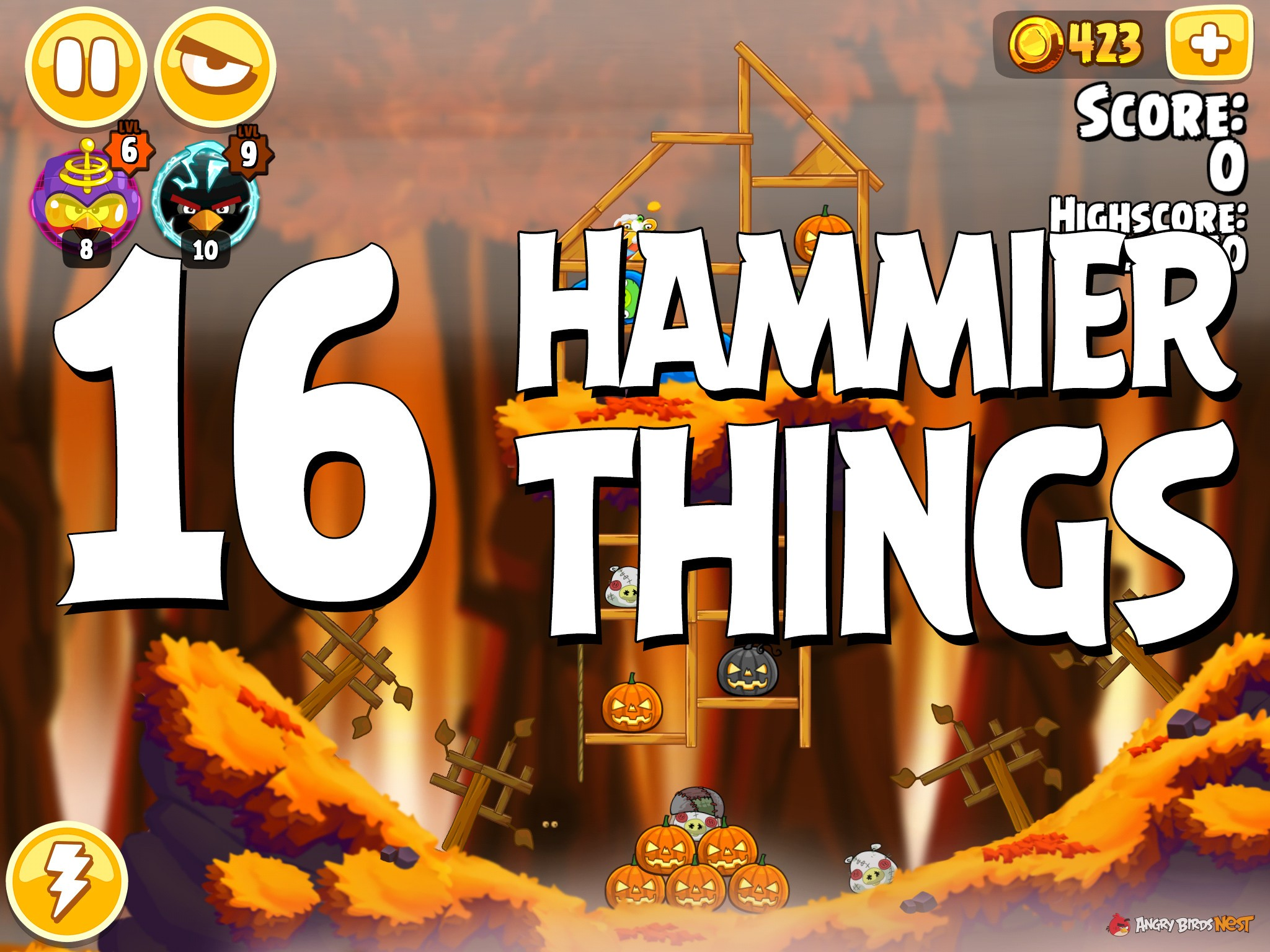 Angry Birds Hammier Things angry birds seasons hammier things level 1-16 walkthrough