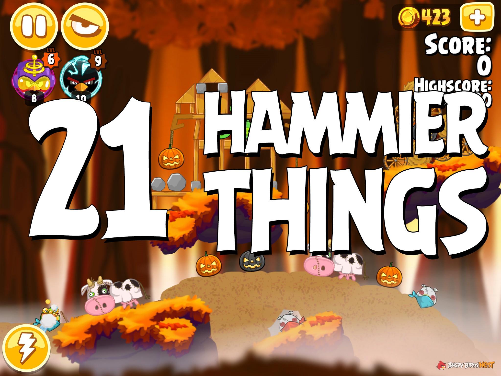 Angry Birds Hammier Things angry birds seasons hammier things level 1-21 walkthrough