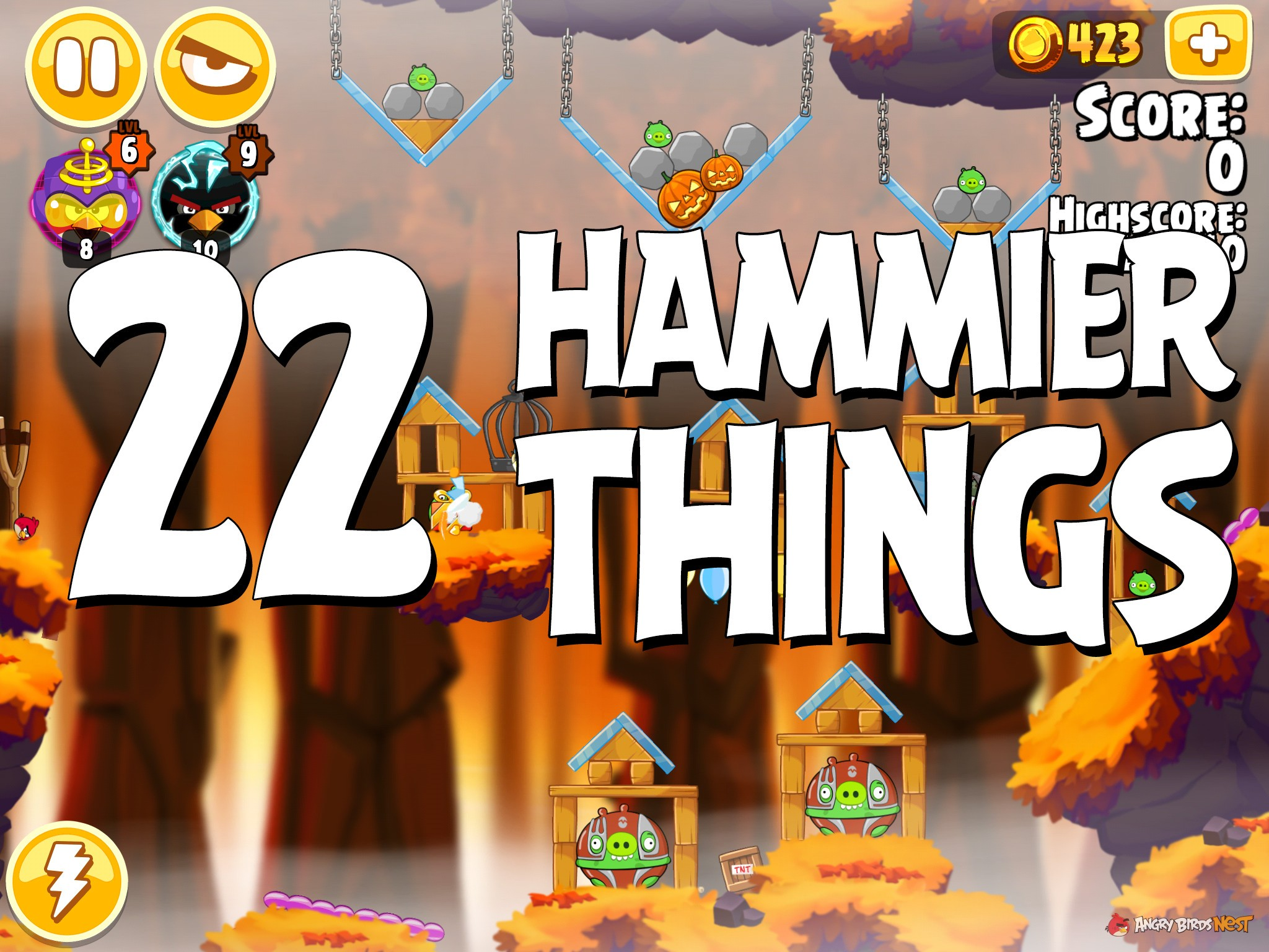 Angry Birds Hammier Things angry birds seasons hammier things level 1-22 walkthrough