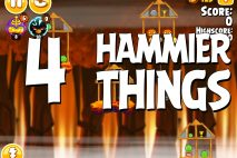 Angry Birds Seasons Hammier Things Level 1-4 Walkthrough