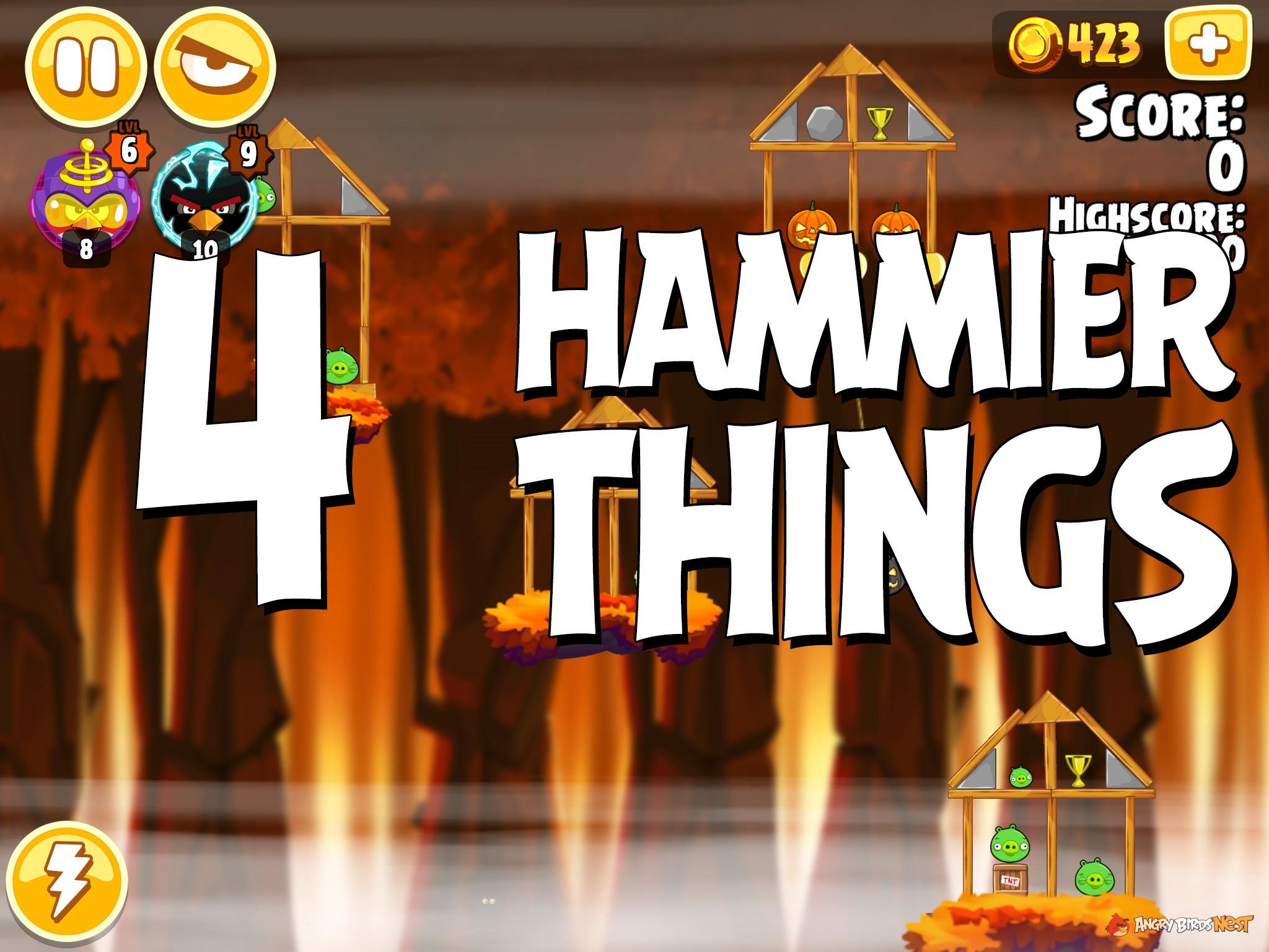 Angry Birds Hammier Things angry birds seasons hammier things level 1-4 walkthrough