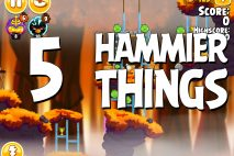Angry Birds Seasons Hammier Things Level 1-5 Walkthrough
