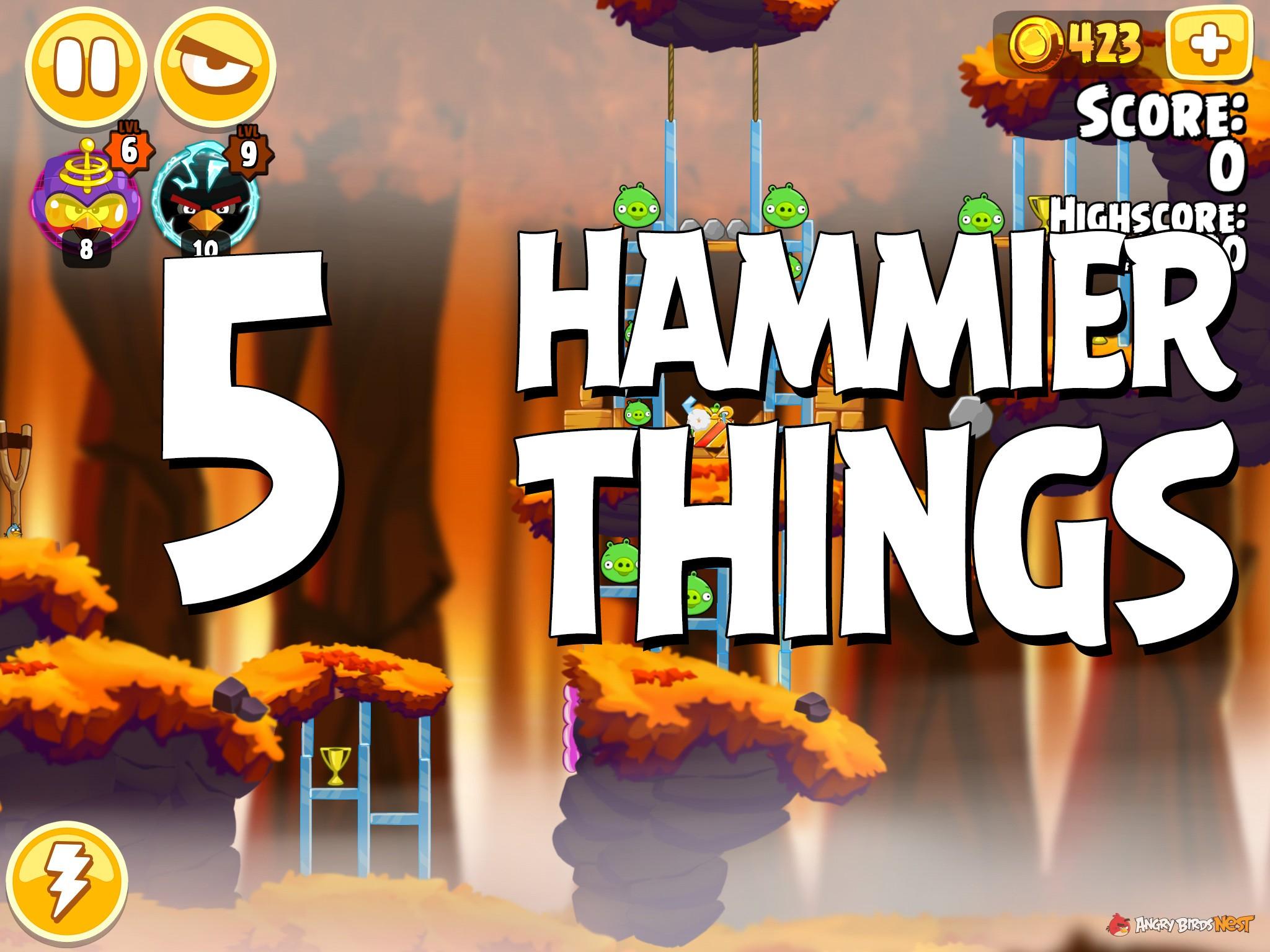 Angry Birds Hammier Things angry birds seasons hammier things level 1-5 walkthrough