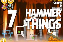Angry Birds Seasons Hammier Things Level 1-7 Walkthrough
