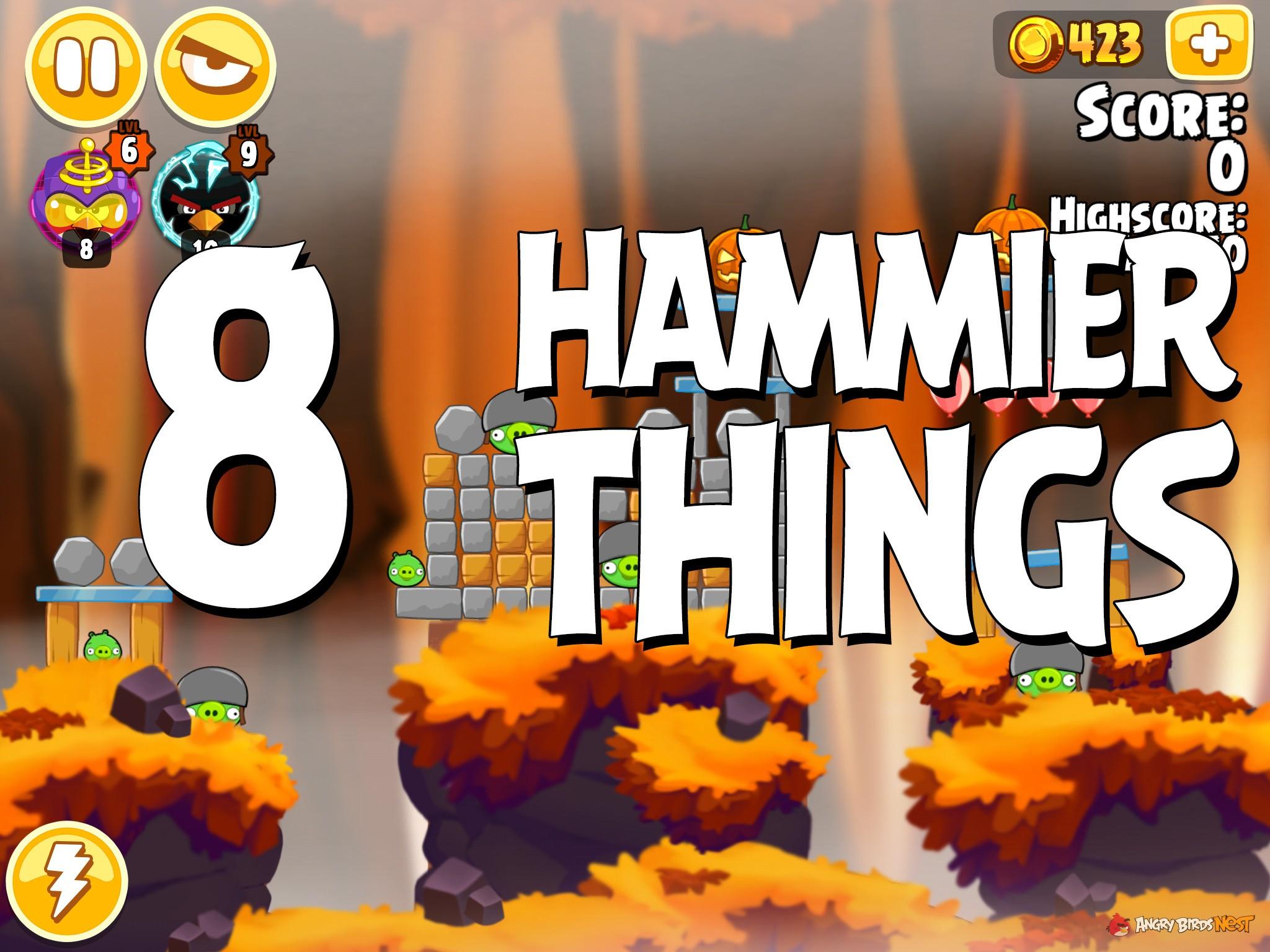Angry Birds Hammier Things angry birds seasons hammier things level 1-8 walkthrough