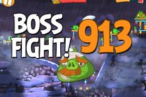 Angry Birds 2 Boss Fight Level 913 Walkthrough – Cobalt Plateaus Pigfoot Mountains