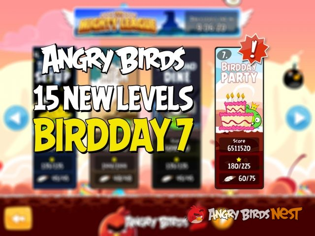 Angry Birds Birdday 7 Update 15 New Levels Coming Soon