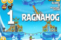 Angry Birds Seasons Ragnahog Level 1-1 Walkthrough