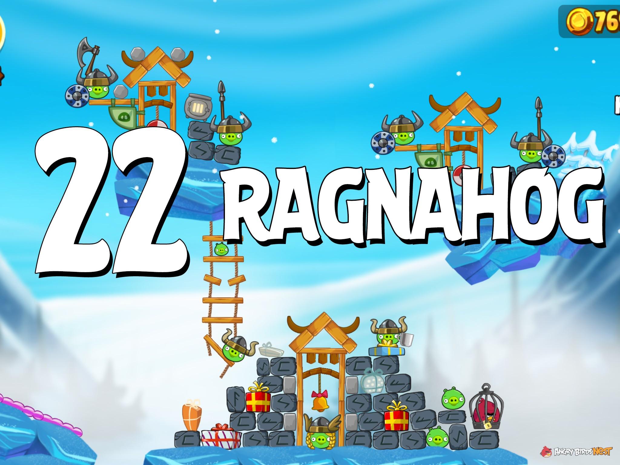 Angry Birds Seasons Ragnahog Level 1-22 Walkthrough ...
