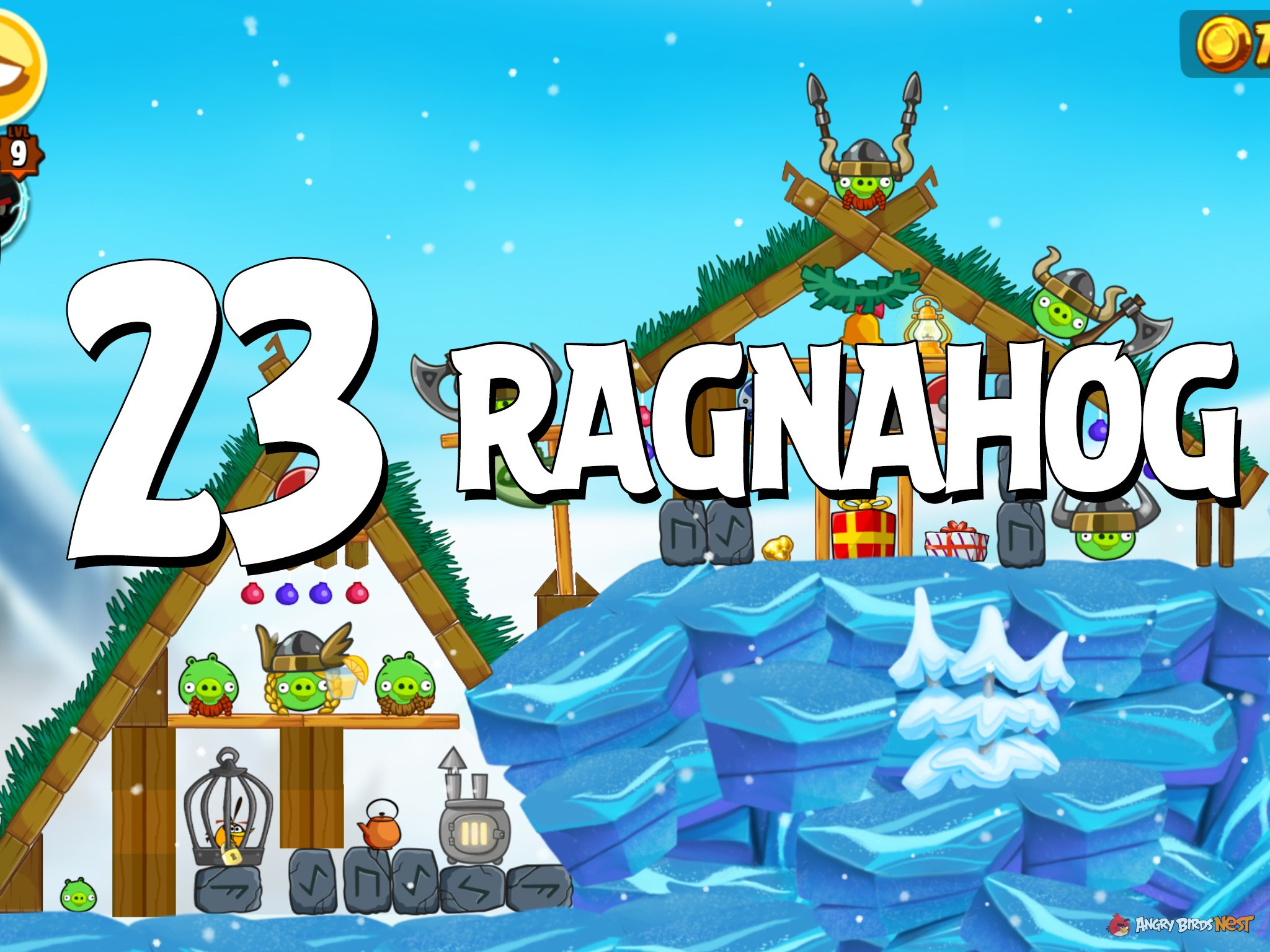 Angry Birds Seasons Ragnahog Level 1-23 Walkthrough ...