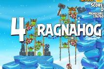Angry Birds Seasons Ragnahog Level 1-4 Walkthrough