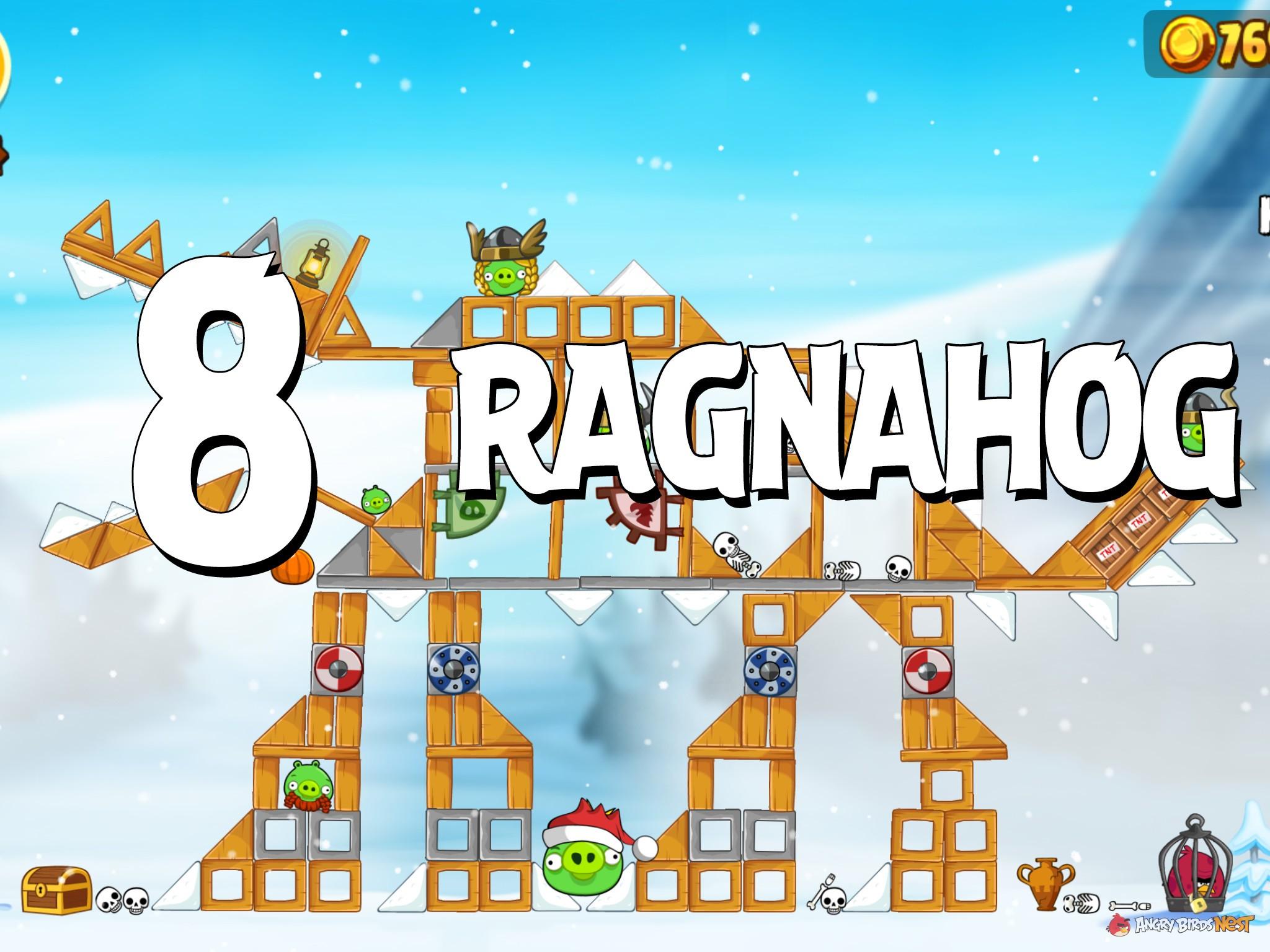Angry Birds Seasons Ragnahog Level 1-8 Walkthrough ...