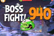 Angry Birds 2 Boss Fight Level 940 Walkthrough – Cobalt Plateaus Pigfoot Mountains