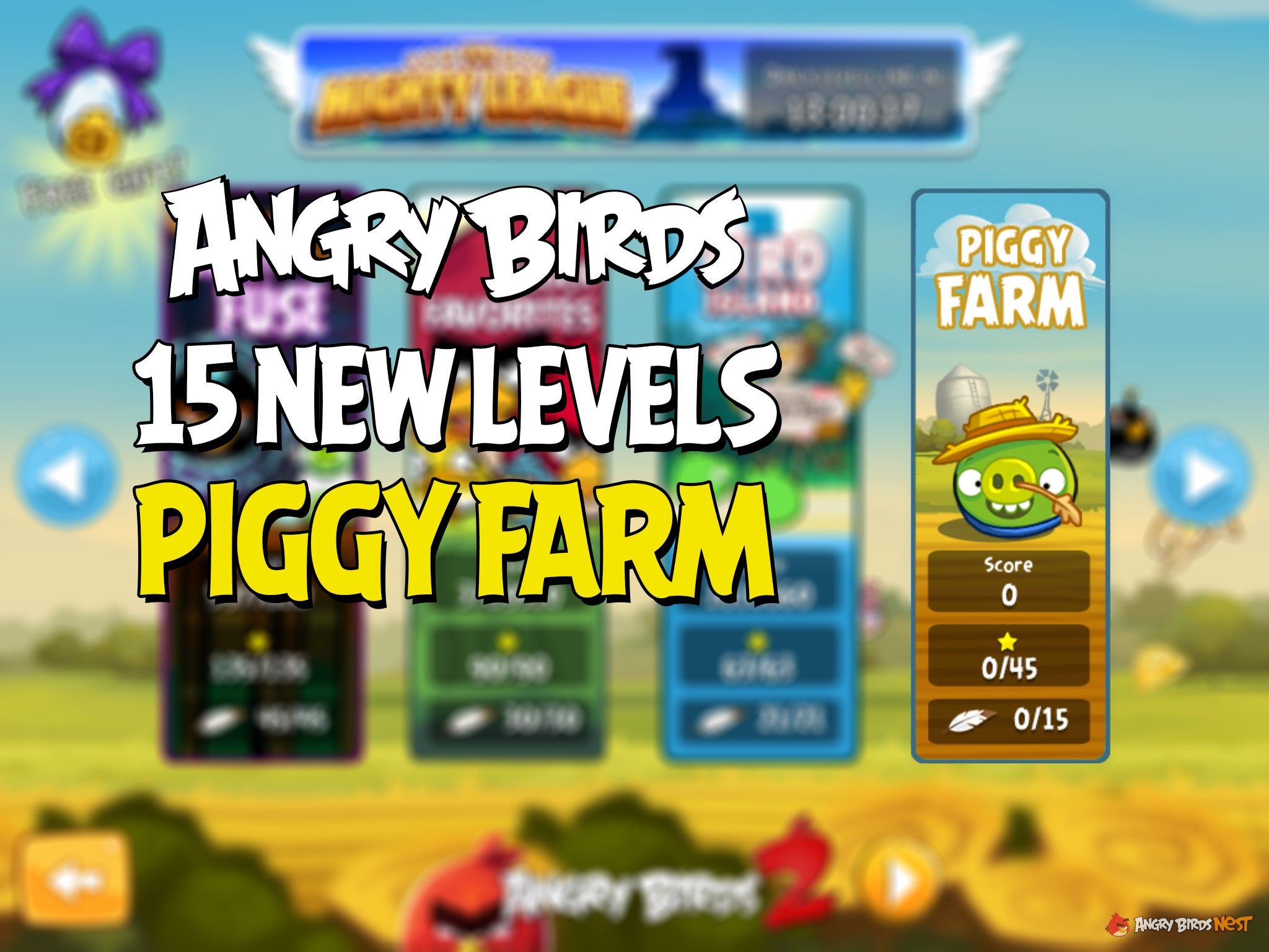 second angry birds piggy farm update adds levels 16 through 30