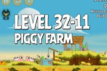 Angry Birds Piggy Farm Level 32-11 Walkthrough