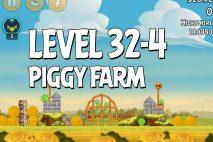 Angry Birds Piggy Farm Level 32-4 Walkthrough