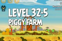 Angry Birds Piggy Farm Level 32-5 Walkthrough