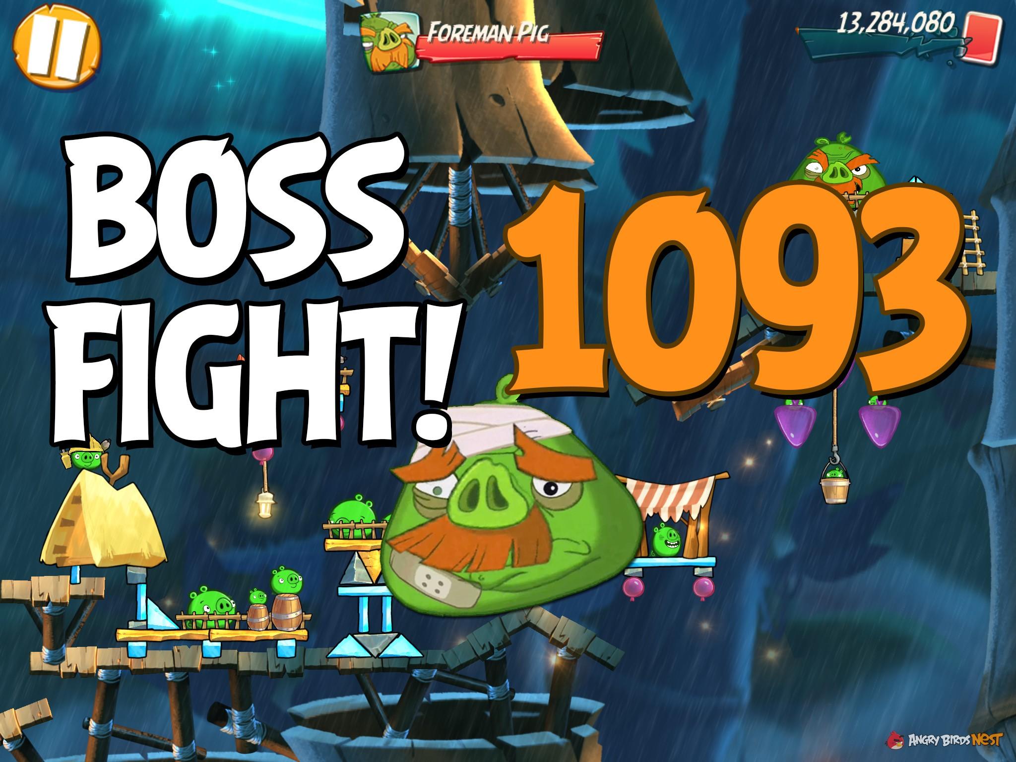 Angry Birds 2 Boss Fight Level 1093 Walkthrough – Bamboo Forest Boarneo    AngryBirdsNest