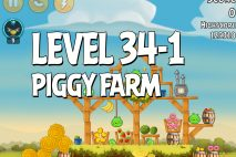 Angry Birds Piggy Farm Level 34-1 Walkthrough