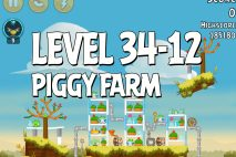 Angry Birds Piggy Farm Level 34-12 Walkthrough
