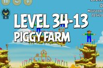 Angry Birds Piggy Farm Level 34-13 Walkthrough