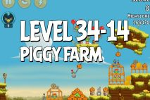 Angry Birds Piggy Farm Level 34-14 Walkthrough