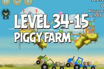 Angry Birds Piggy Farm Level 34-15 Walkthrough
