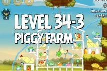 Angry Birds Piggy Farm Level 34-3 Walkthrough