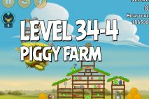Angry Birds Piggy Farm Level 34-4 Walkthrough