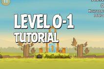 Angry Birds Tutorial Level 0-1 Walkthrough