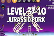 Angry Birds Jurassic Pork Level 37-10 Walkthrough