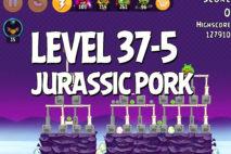 Angry Birds Jurassic Pork Level 37-5 Walkthrough