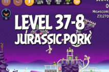 Angry Birds Jurassic Pork Level 37-8 Walkthrough