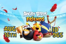 Angry Birds Friends 2021 Tournament T965 On Now!