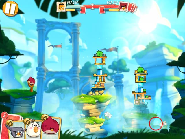 Angry Birds 2 unreachable area