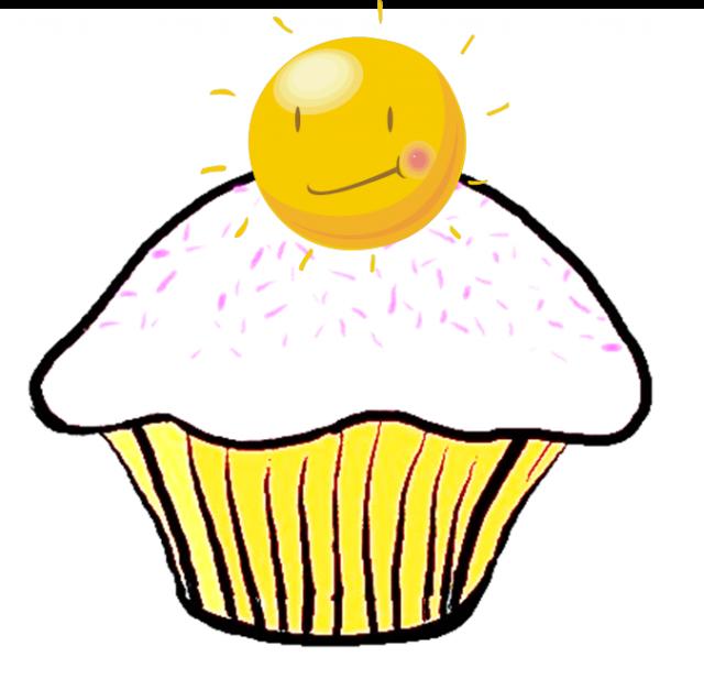 Sunshine cupcake