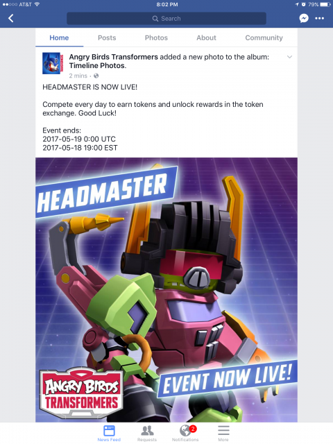 Headmaster Event | AngryBirdsNest Forum