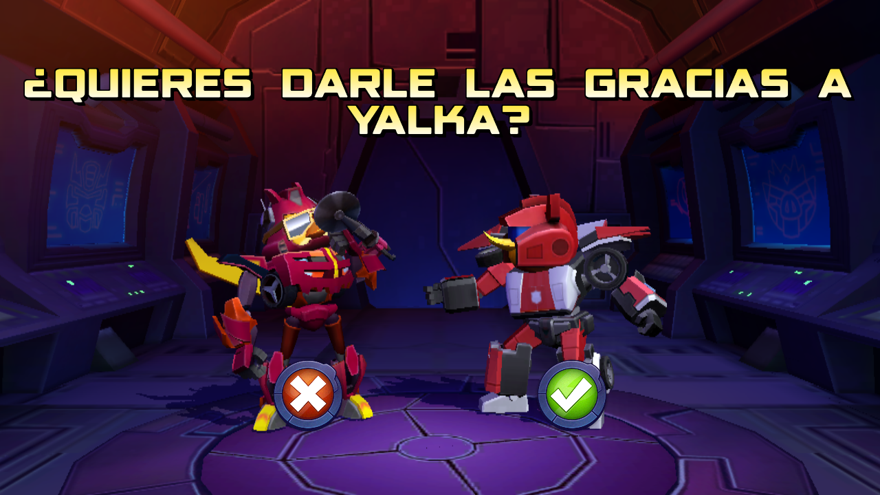 Red Alert in robot mode