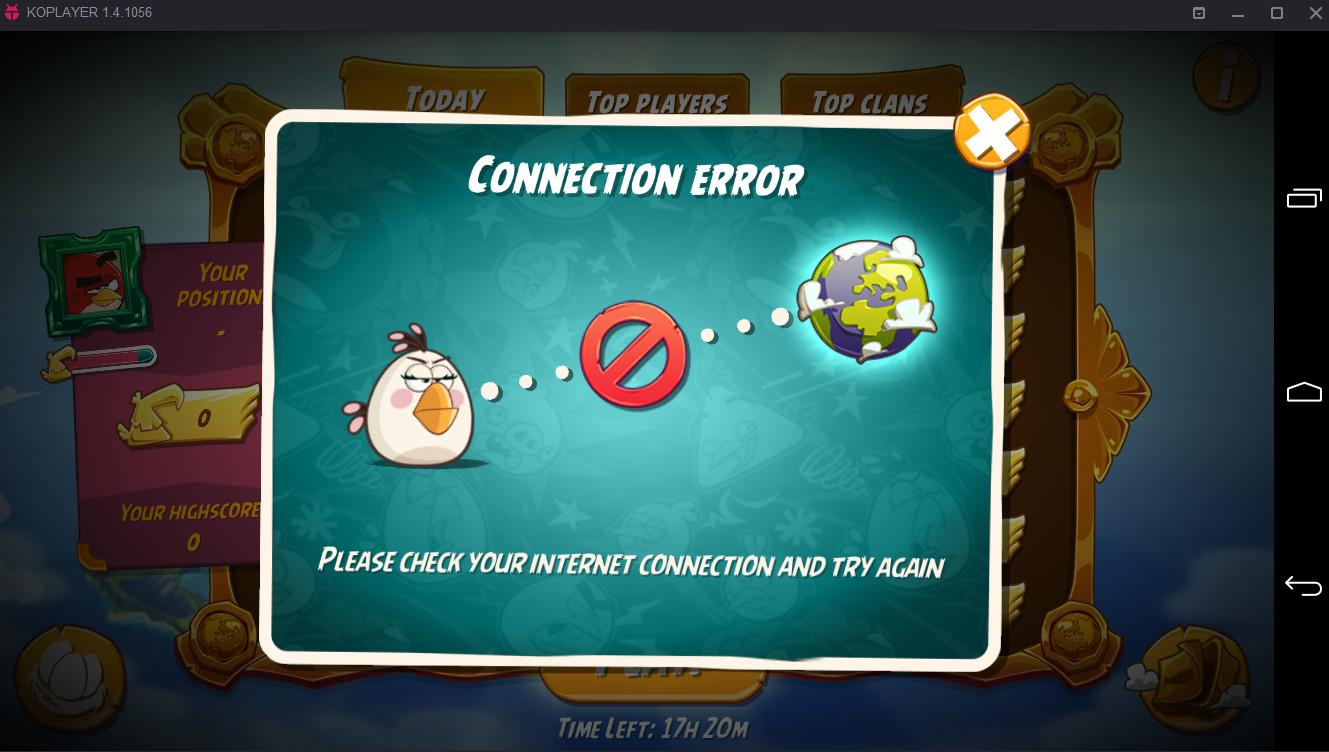 Can't play mighty eagle  Connection error    AngryBirdsNest Forum