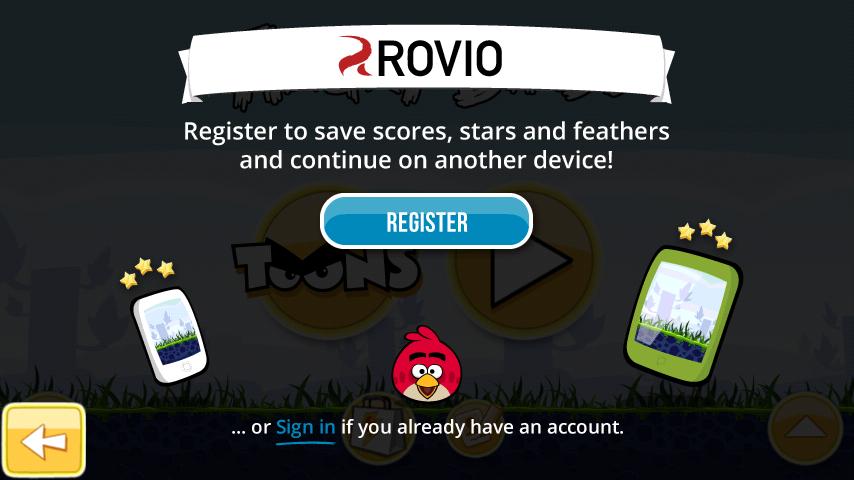 Rovio Account info