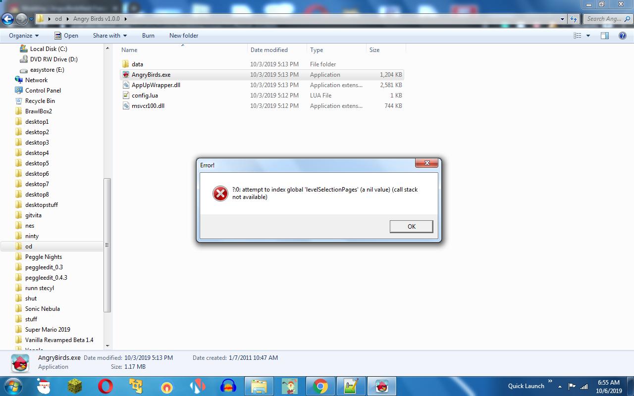 Error, again.