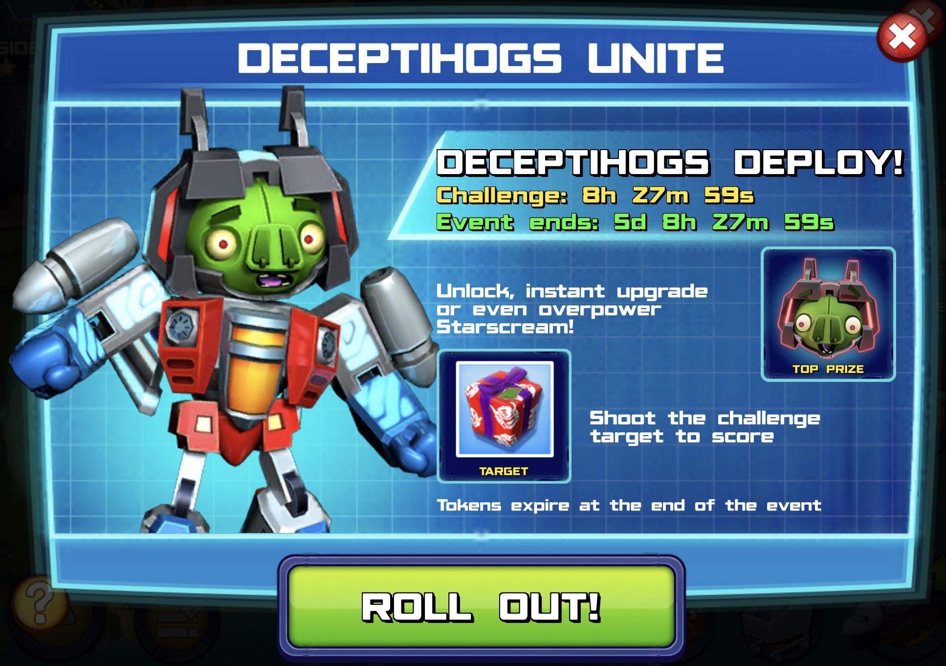 Deceptihogs Deploy event banner